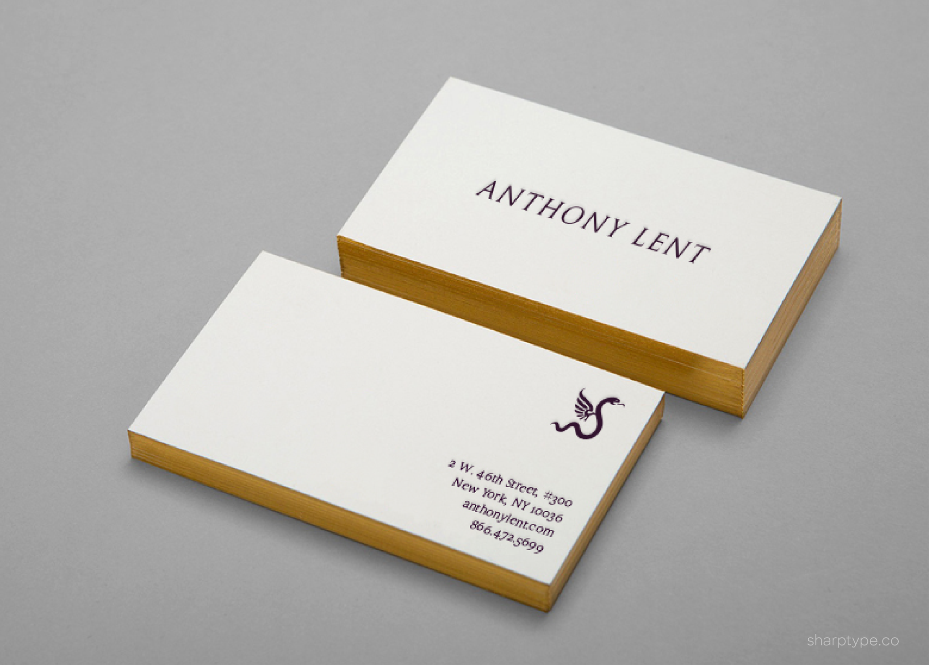 Anthony Lent Stationery Business Card