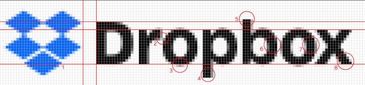 Dropbox Logo Pixel Diagram Sharp Grotesk