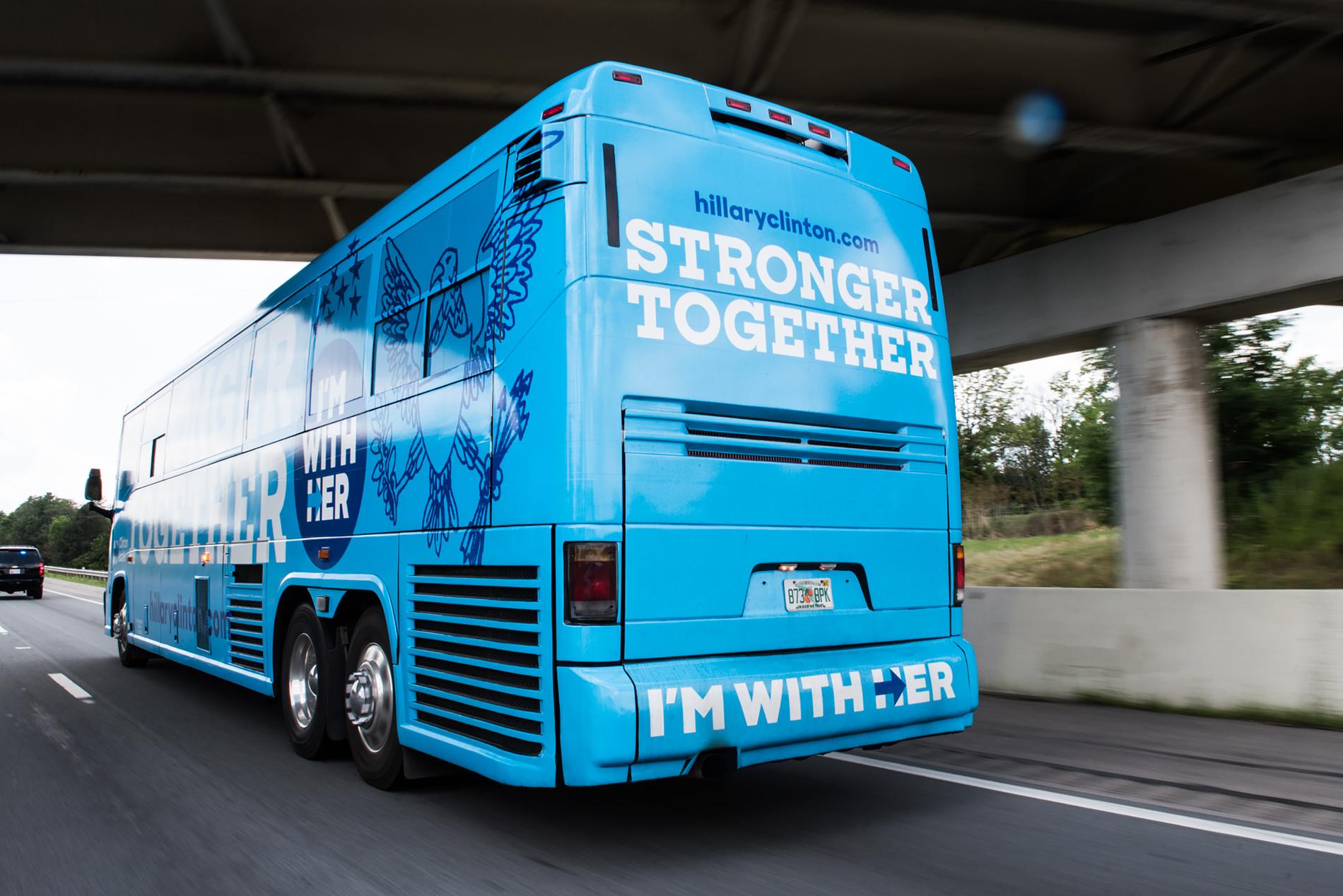 Hillary Clinton Sharp Slab Bus Image 2
