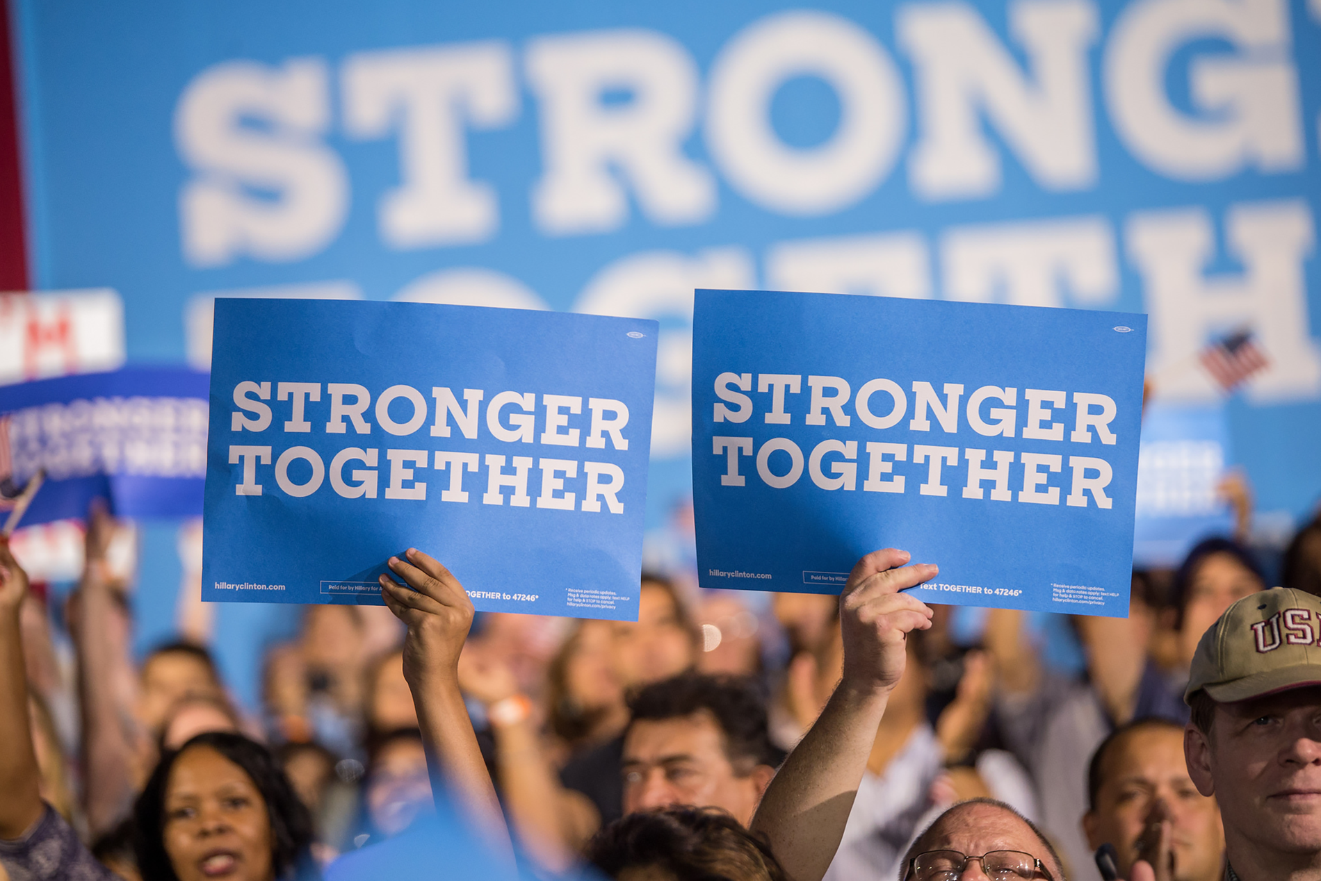 Hillary Clinton Stronger Together Signage