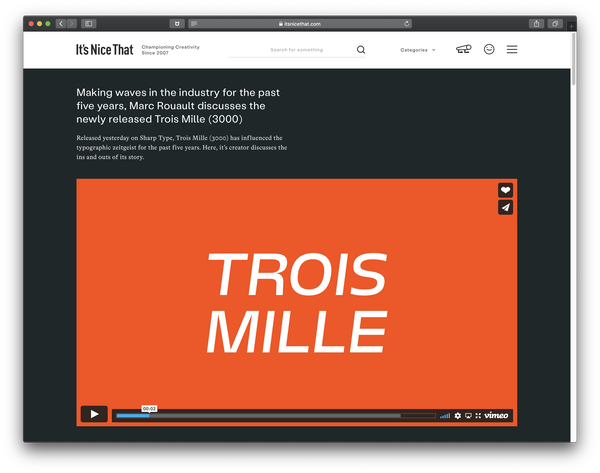 It's Nice That: Trois Mille