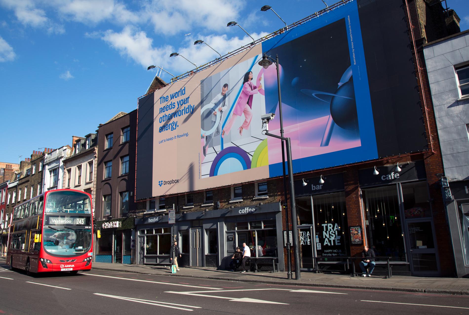London Shoreditch Billboard Dropbox Sharp Grotesk