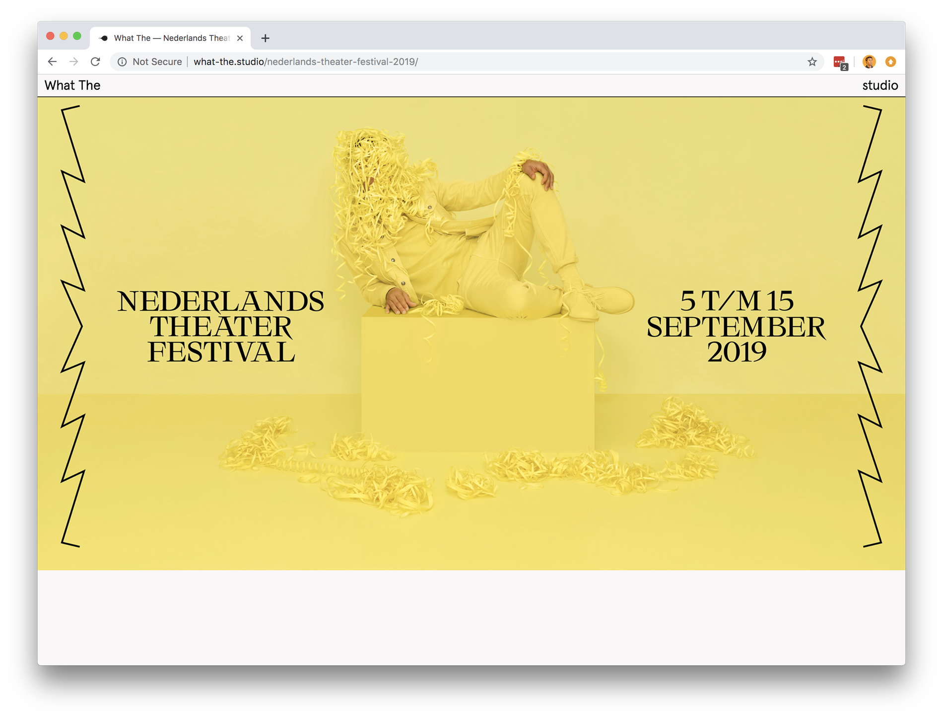 What The Nederlands Theater Festival