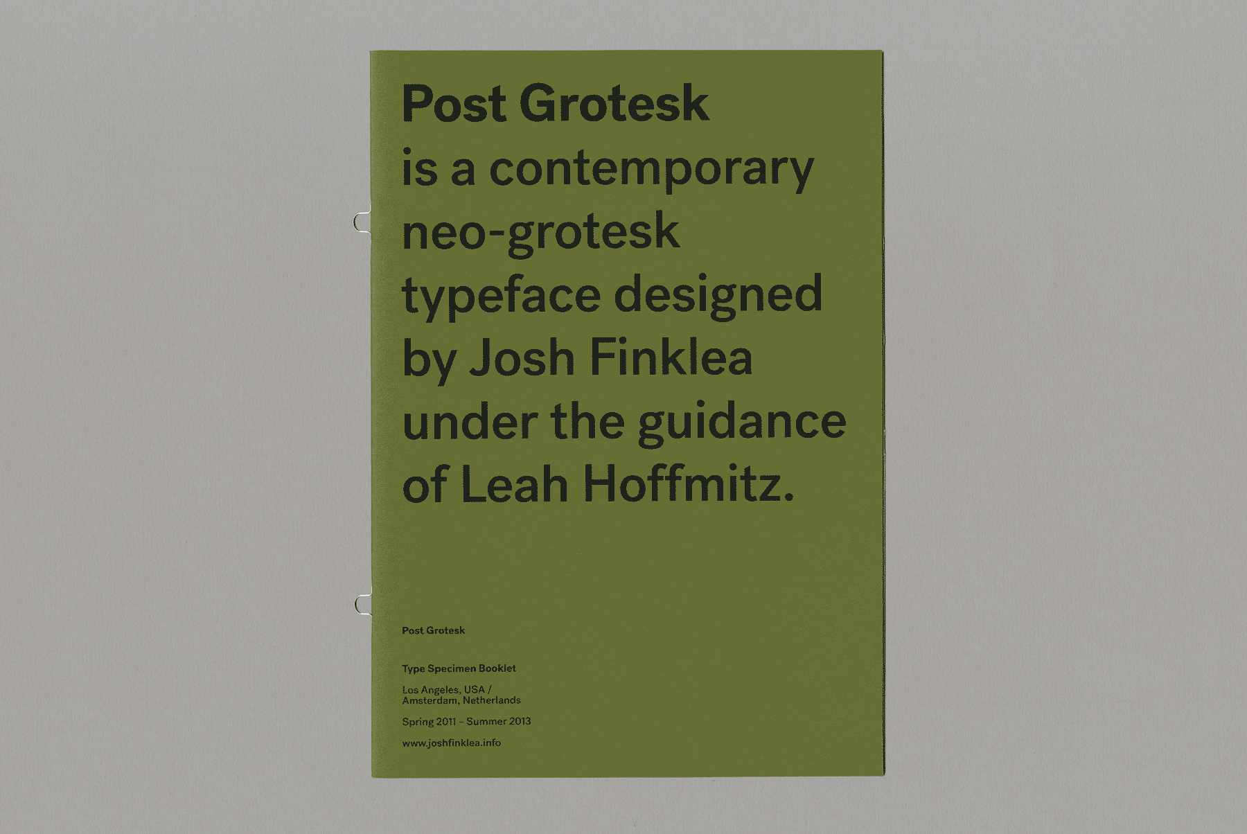 Post Grotesk Print Specimen