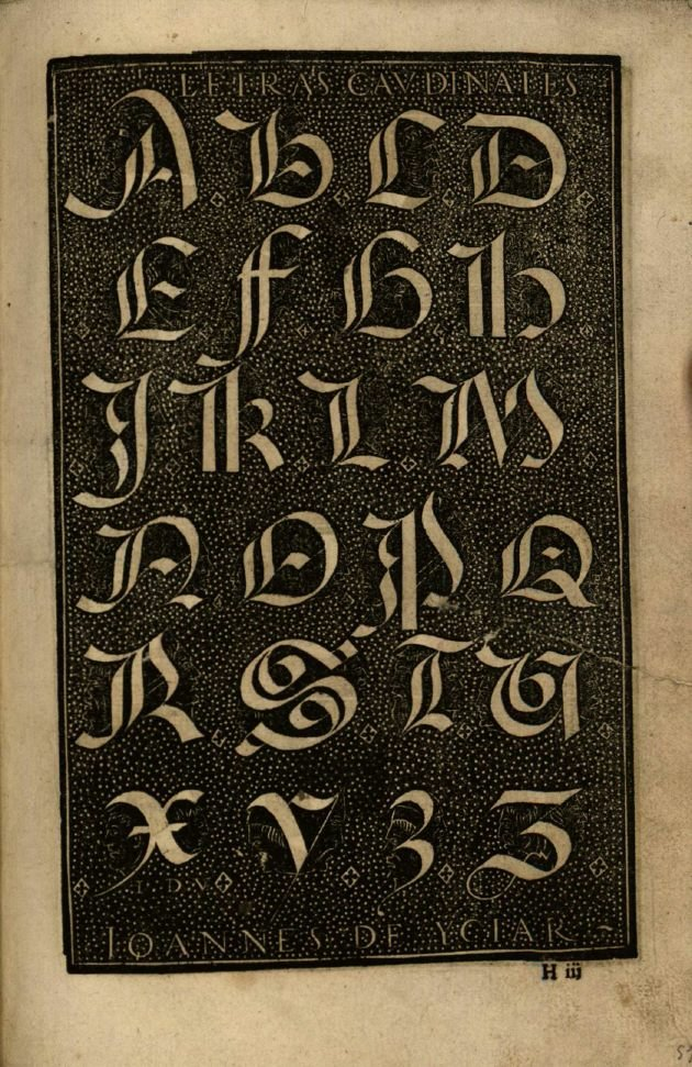 Respira Letras Cardinales Manuscript