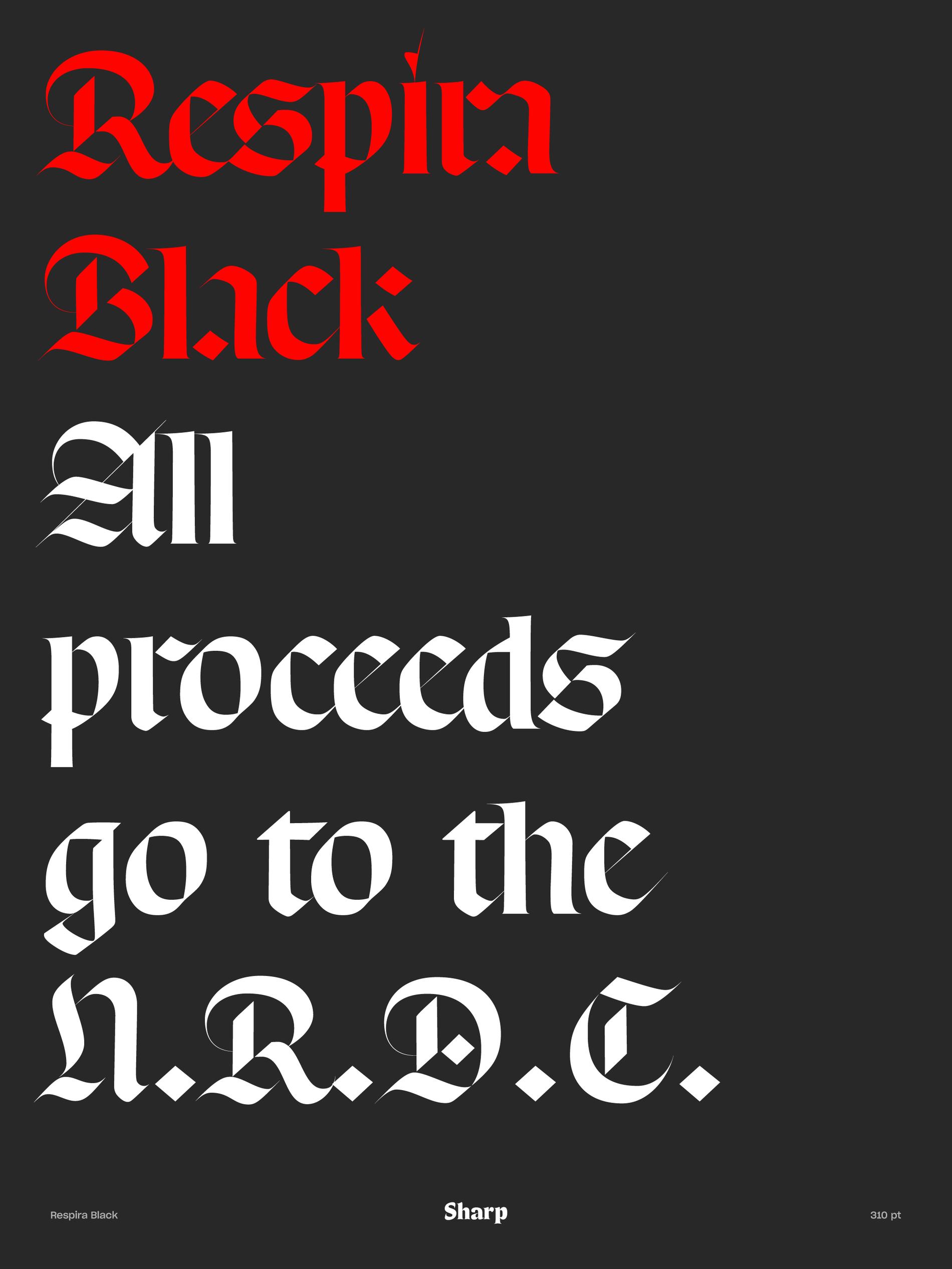 Sharp Type All Proceeds Illustrator
