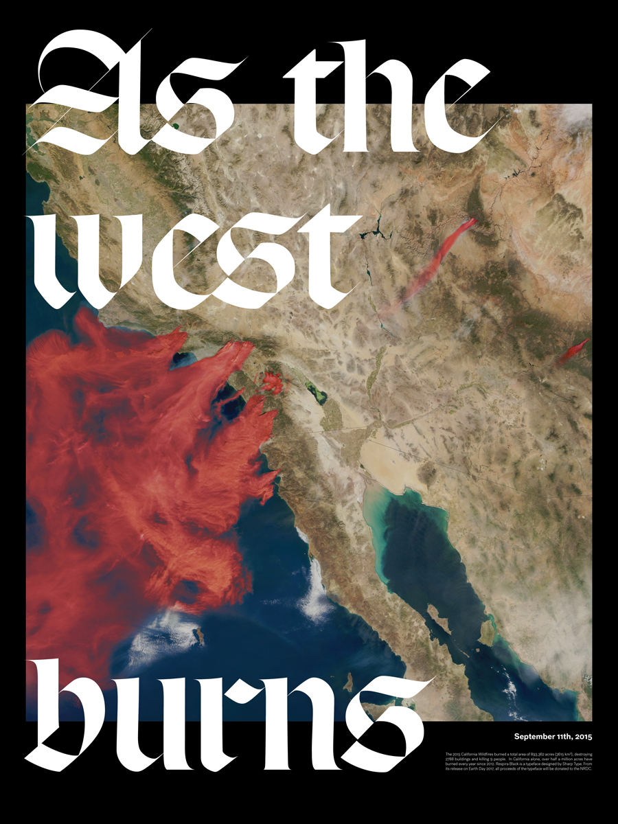 As The West Burns Lucas Sharp Respira Poster