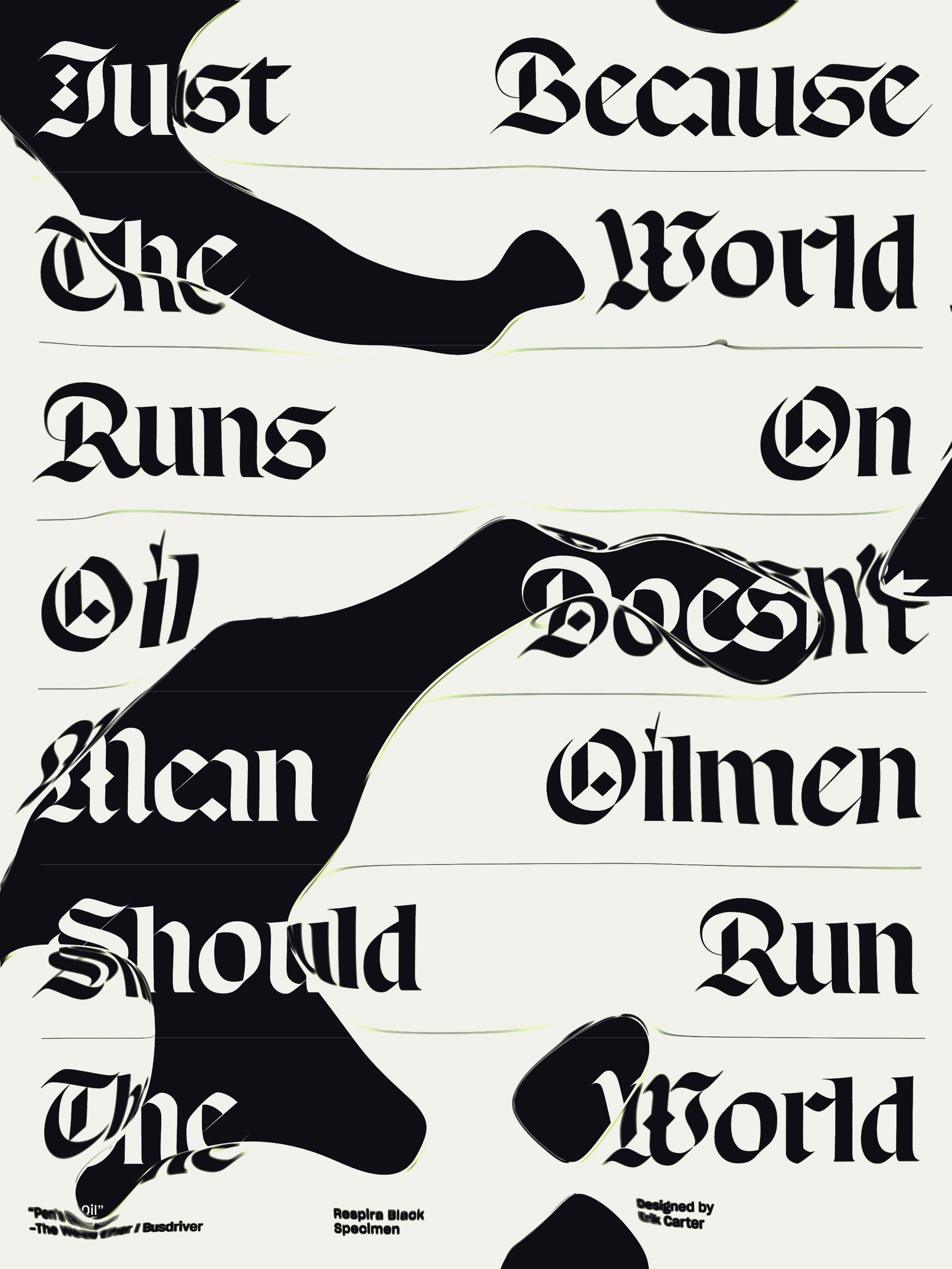 Erik Carter Oilmen Poster Respira