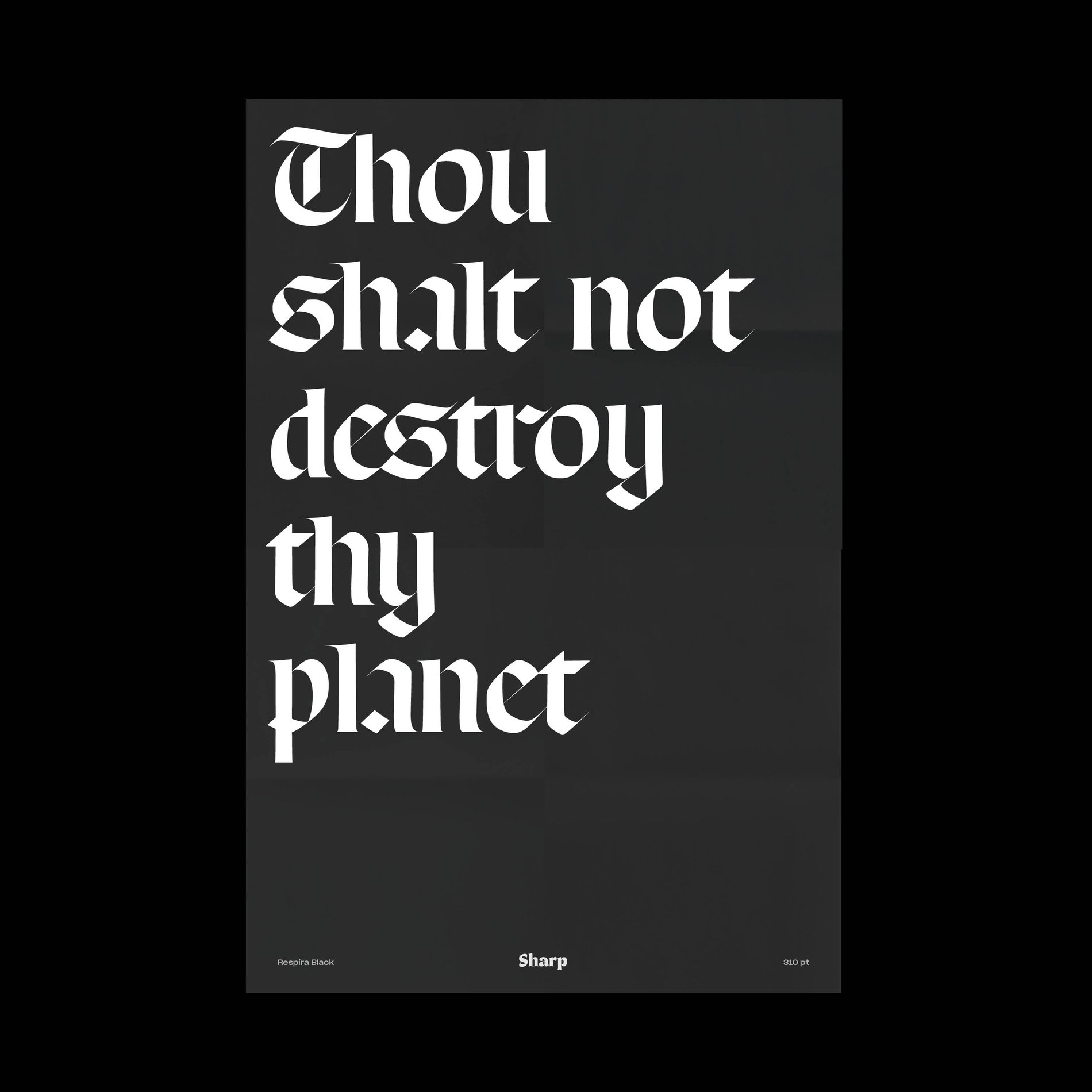 Lucas Sharp Thou Shalt Not 1 Poster Respira