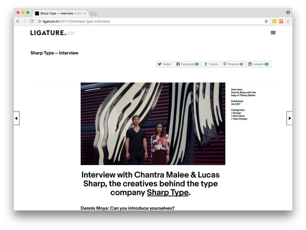 Ligature.ch Interview Screen Shot