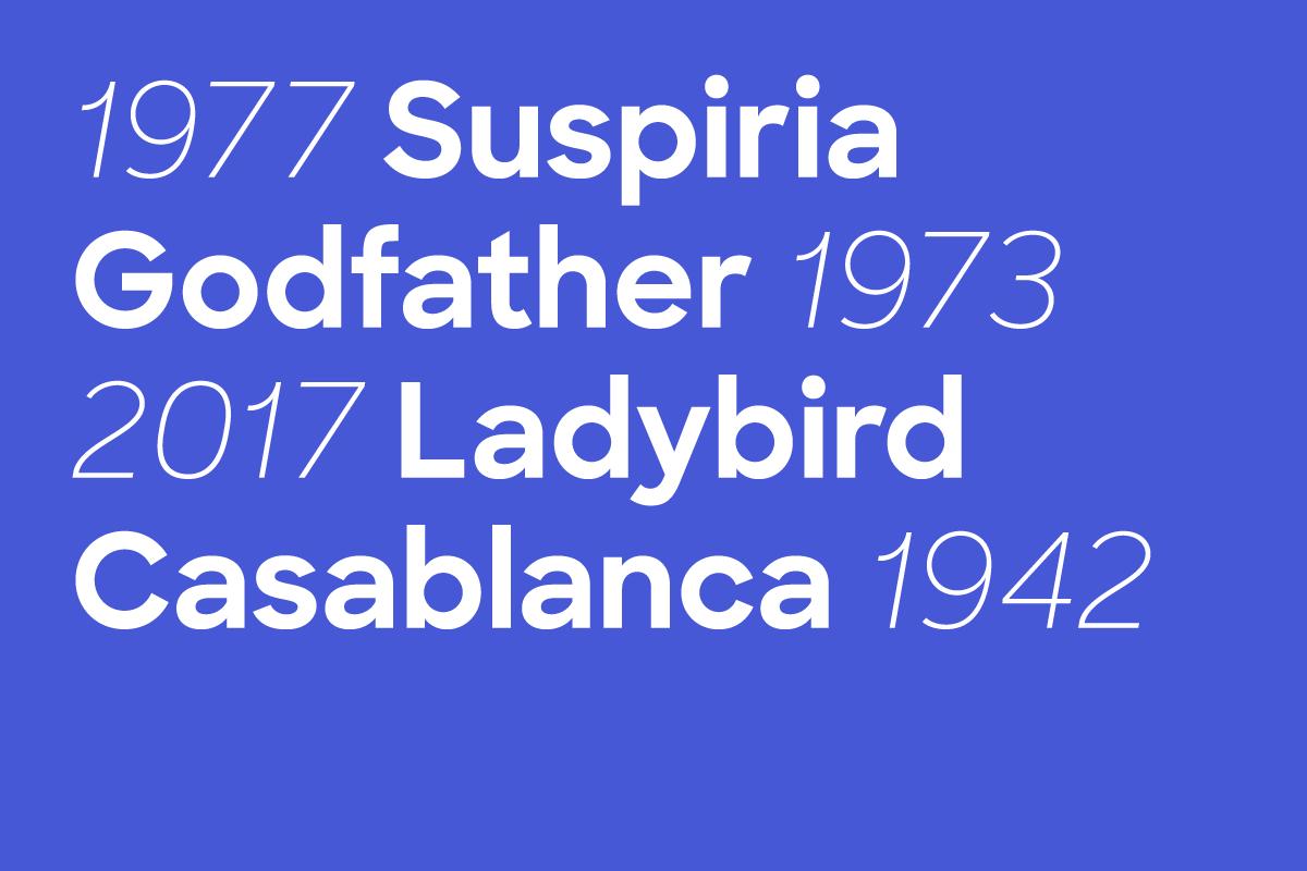 Sharp Sans Thumbnail Suspiria 1977