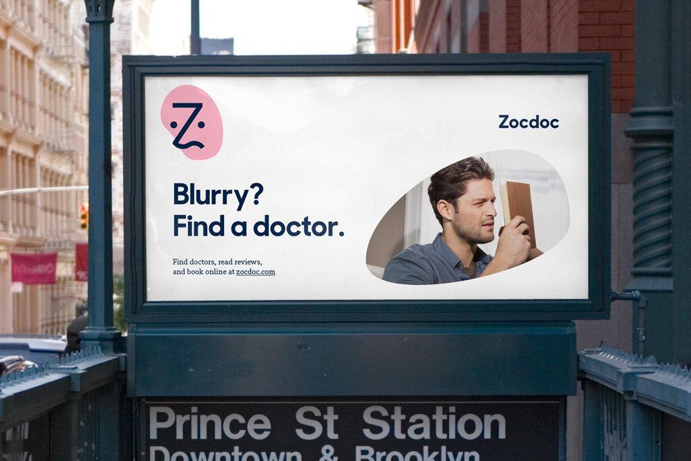 Sharp Sans in Use - Zocdoc print ad