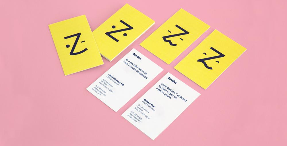 Zocdoc Business Cards Horiz